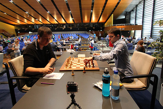 Ronde 7: Radoslaw Wojtaszek (2733) 1-0 Maxime Vachier-Lagrave (2731) - Photo © site officiel