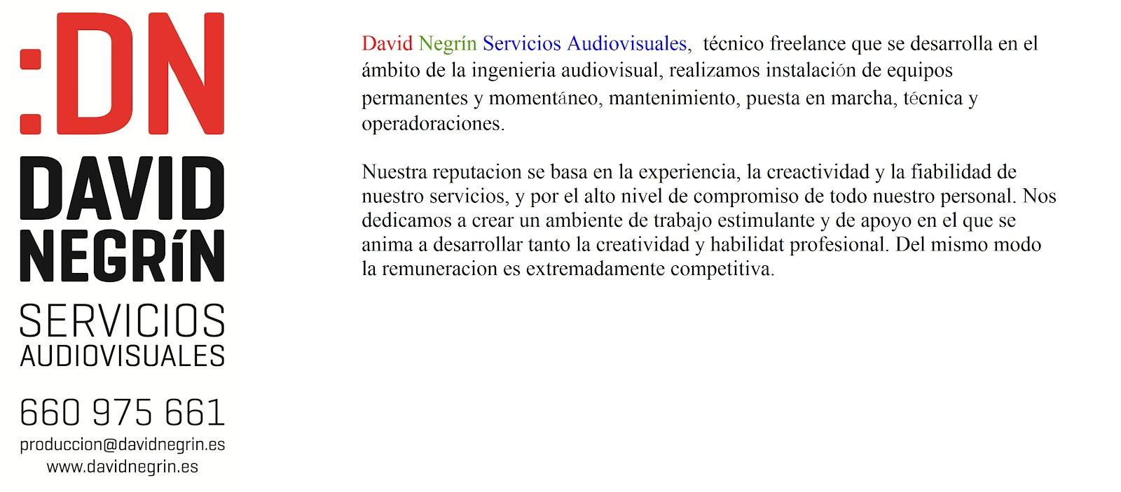 DAVID NEGRIN SERVICIOS AUDIOVISUALES