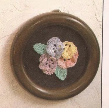 Cuadro Romántico a Crochet