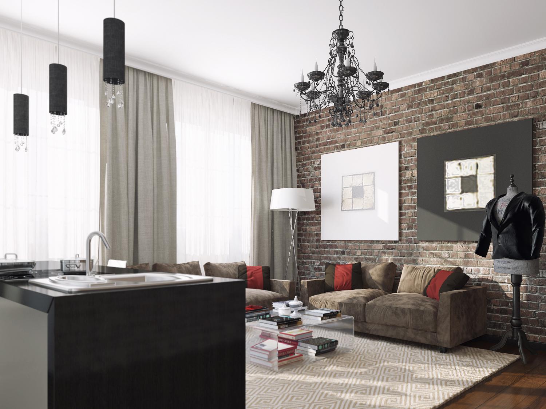 Дизайн гостинной визуализация