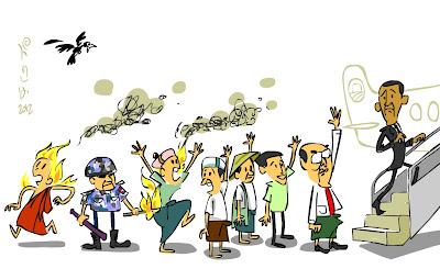 ကာတြန္း ဘီရုုမာ – အျပန္ အျပန္လားကြဲ႔၊ အသြား အသြား အသြားပါဗ်