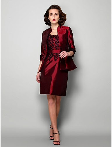 Vestido Madrina Rojo Falda Corta