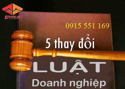 5 thay đổi luật doanh nghiệp 2015