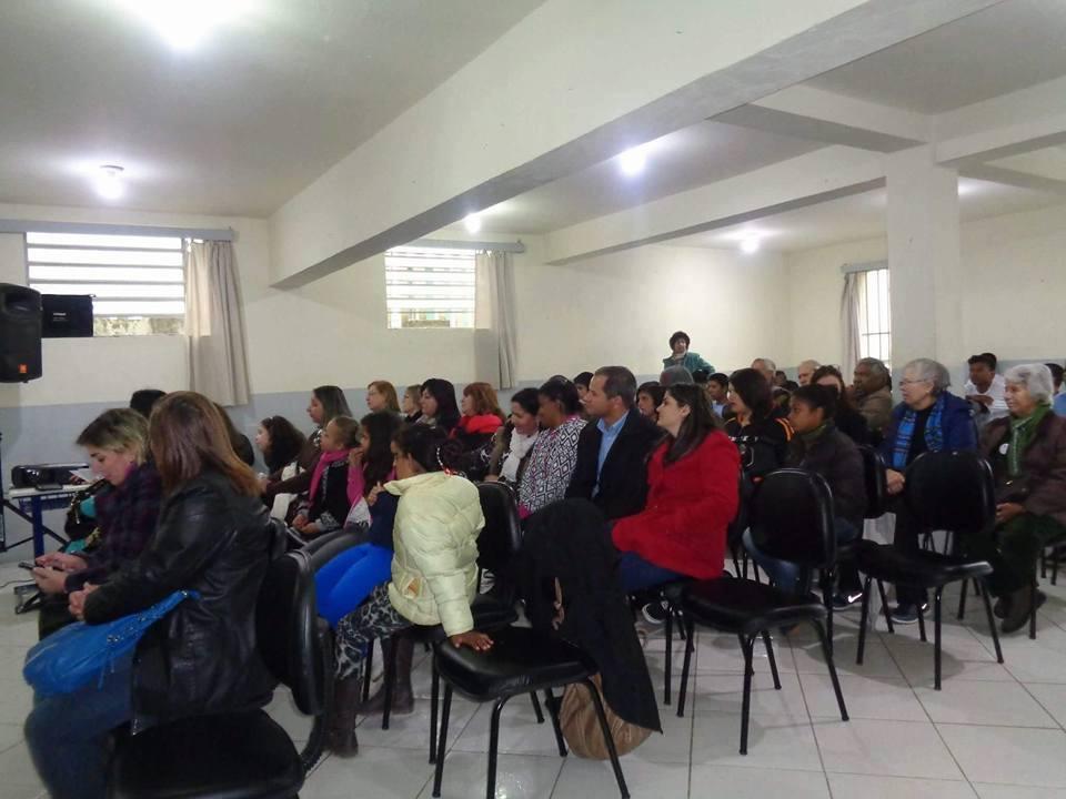 Sala de eventos da Escola Arnaldo Faria
