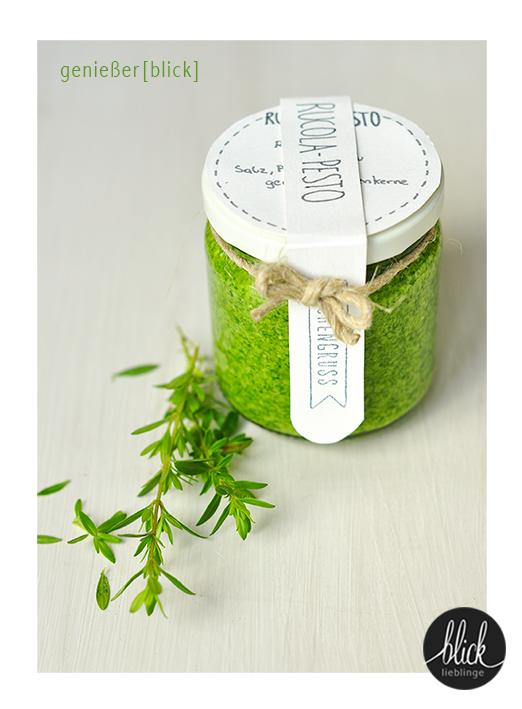 blick]lieblinge: Rucola-Pesto - ein köstlicher Gruß aus der Küche