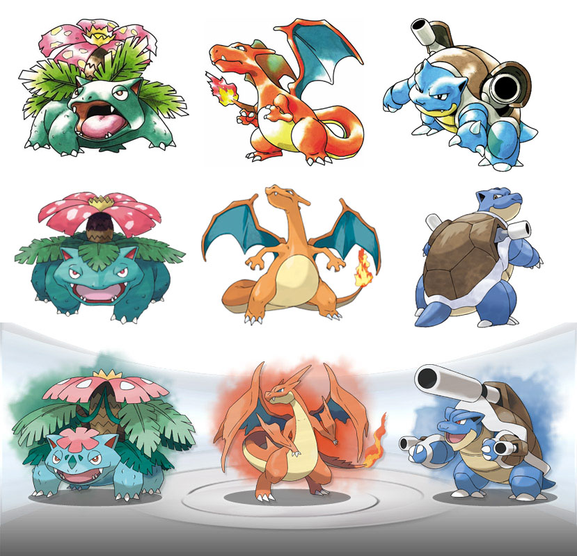 The Fanboy SEO: New Mega Forms for Charizard, Blastoise ...