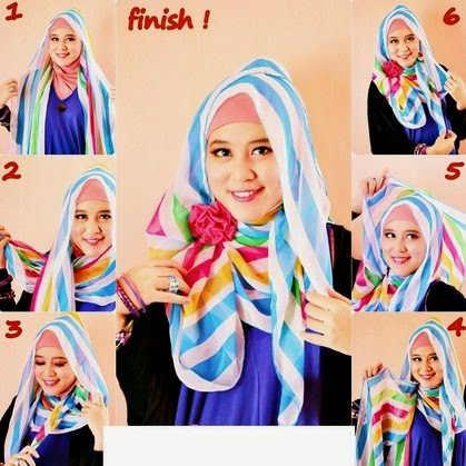 tutorial hijab simple casual untuk wajah bulat foto tutorial hijab ...