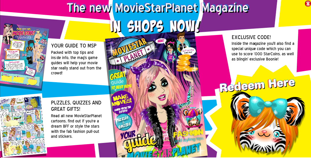 Hey MSP Followers MSP has made a new Magazine! also there is redeem