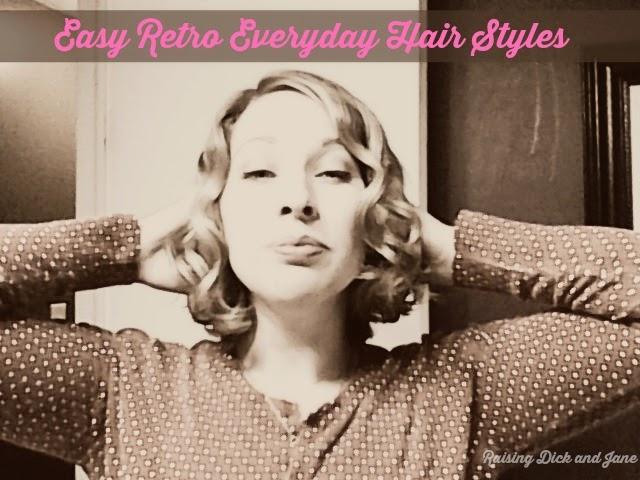 #ad #HeartMyHair #CollectiveBias Easy Retro Hair Styles @Raisingdickjane