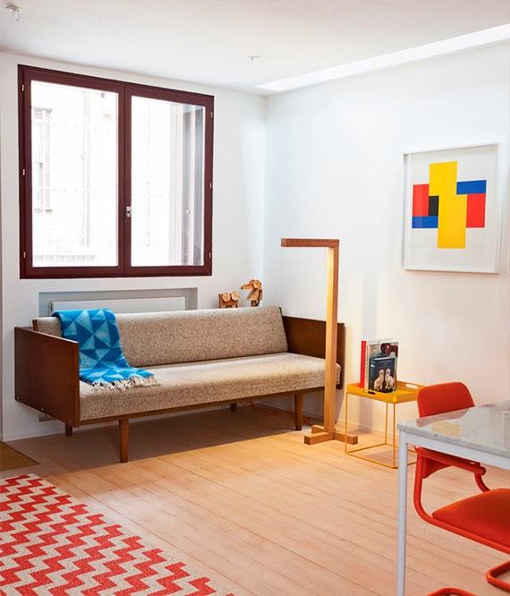 color blocking na decoração - blocos de cor na casa - casa cheia de cores - móveis coloridos
