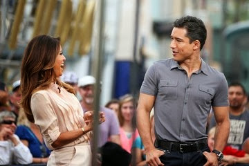 Eva Longoria and Mario Lopez Look Like They're Having a Ton of Fun Together