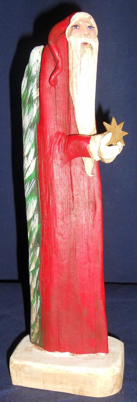Papa Noel con Madera a la Deriva Pintada, I Parte