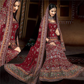 Maroon-Indian-Wedding-Dress