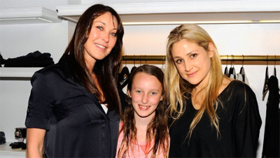 Kimberly Ovitz with Tamara Mellon and Mellon's daughter, Minty