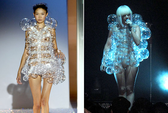 lady gaga red carpet dresses. Lady Gaga. Hussein Chalayan.