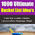 1000 Ultimate Bucket List Idea's - Free Kindle Non-Fiction