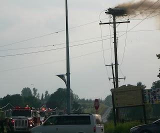 Image Firetrucks Arrive at Ennismore Osprey Fire