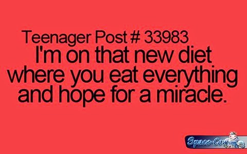funny messages diet picture