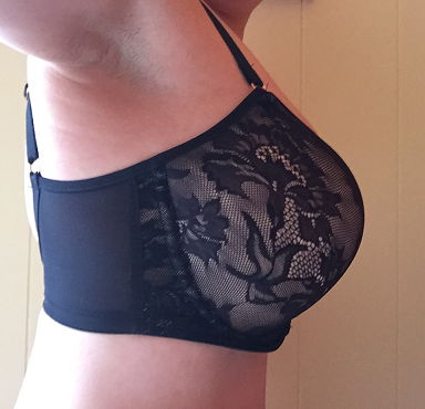 Idina Moulded Bra by Panache side view black lace t-shirt bra