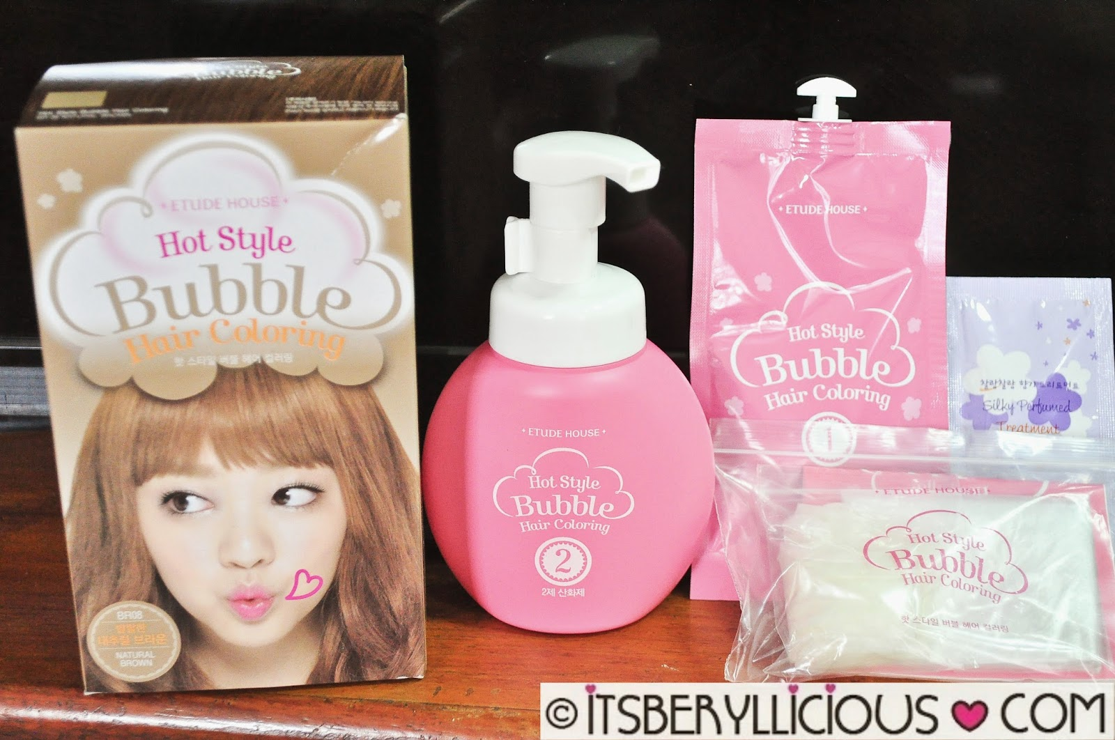 Etude House Hot Style Bubble Hair Coloring Shampoo in Natural ...