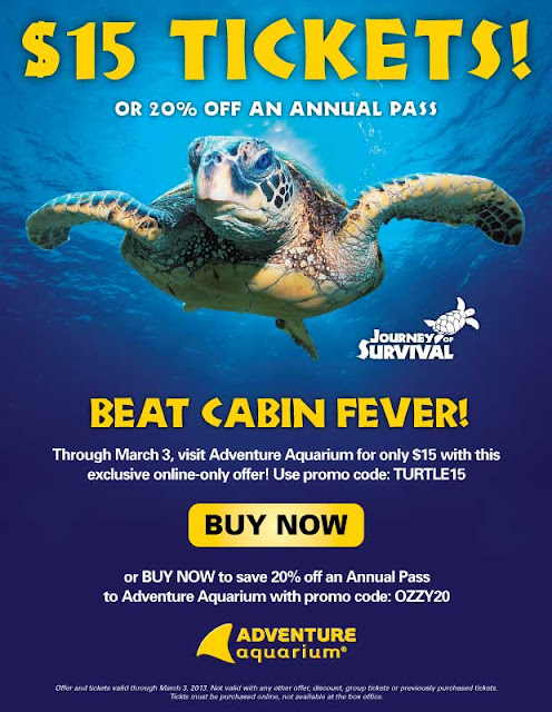 Adventure aquarium discount coupons