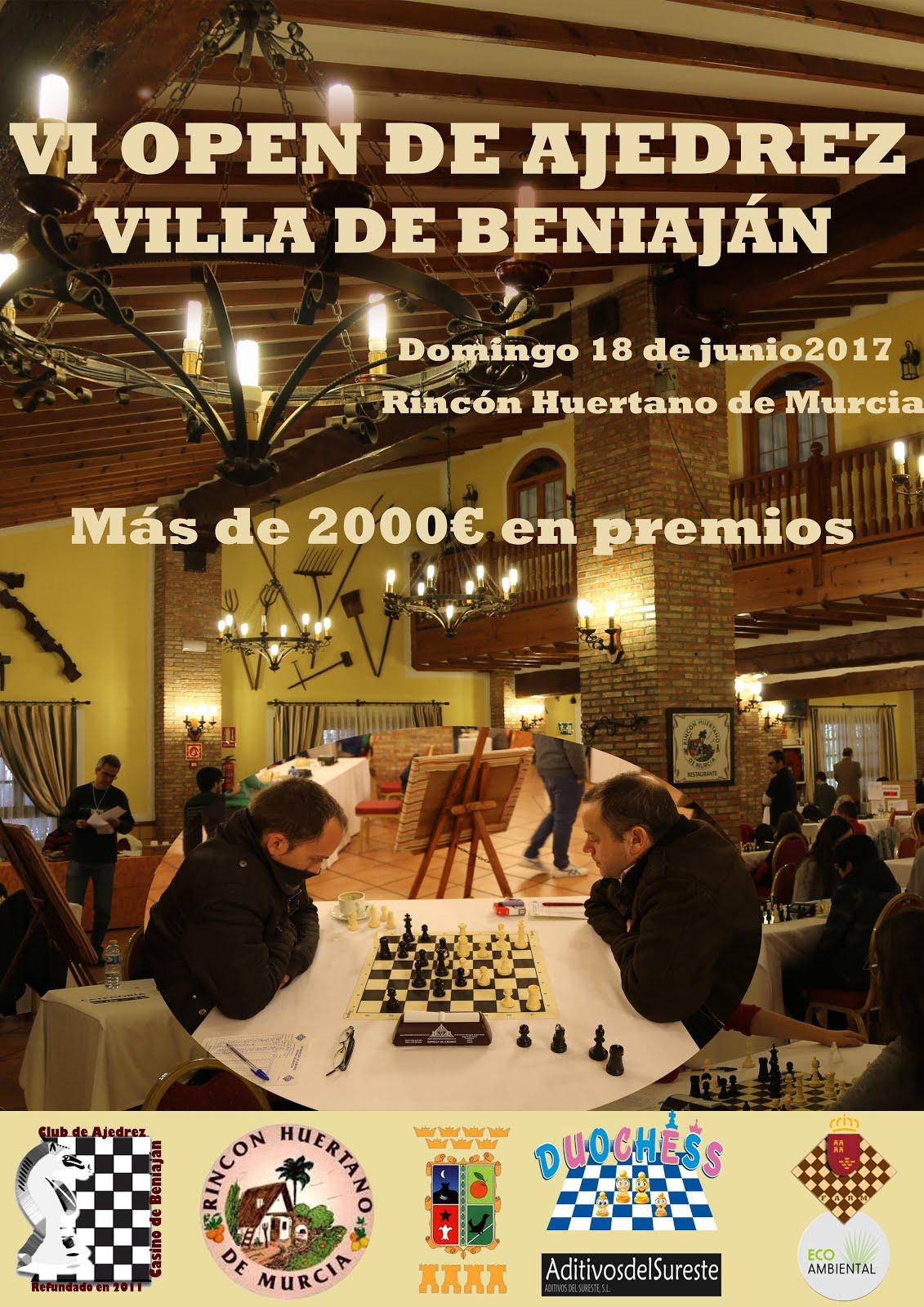 VI OPEN VILLA DE BENIAJÁN 2017