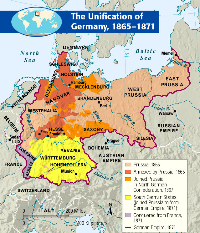 growing support for nationalism in italy and germany 1848 to 1871