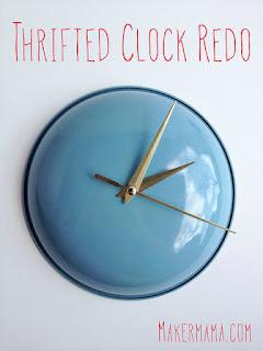 ساعة حائطية مصنوعة من غطاء طنجرة