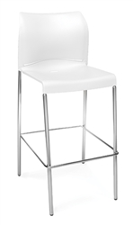OFM E2000 Essentials Bar Stool in White
