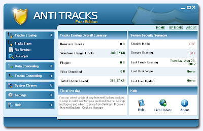 Anti Tracks Free Edition , History cleaner , cleans browsing history , windows softwares, cleans application track , freewares, system cleaner , pc optimizer