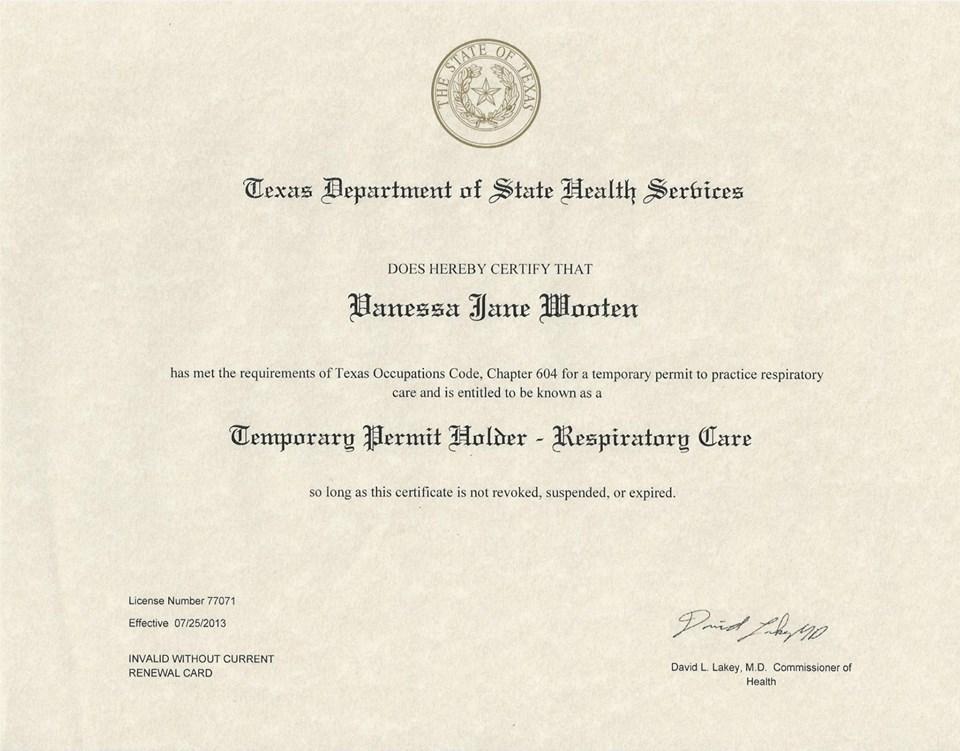 V Wooten World: I\'m Certified!