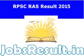 RPSC RAS Result 2015