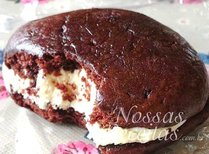 Receita de Biscoito dpreparado com chocolate recheado