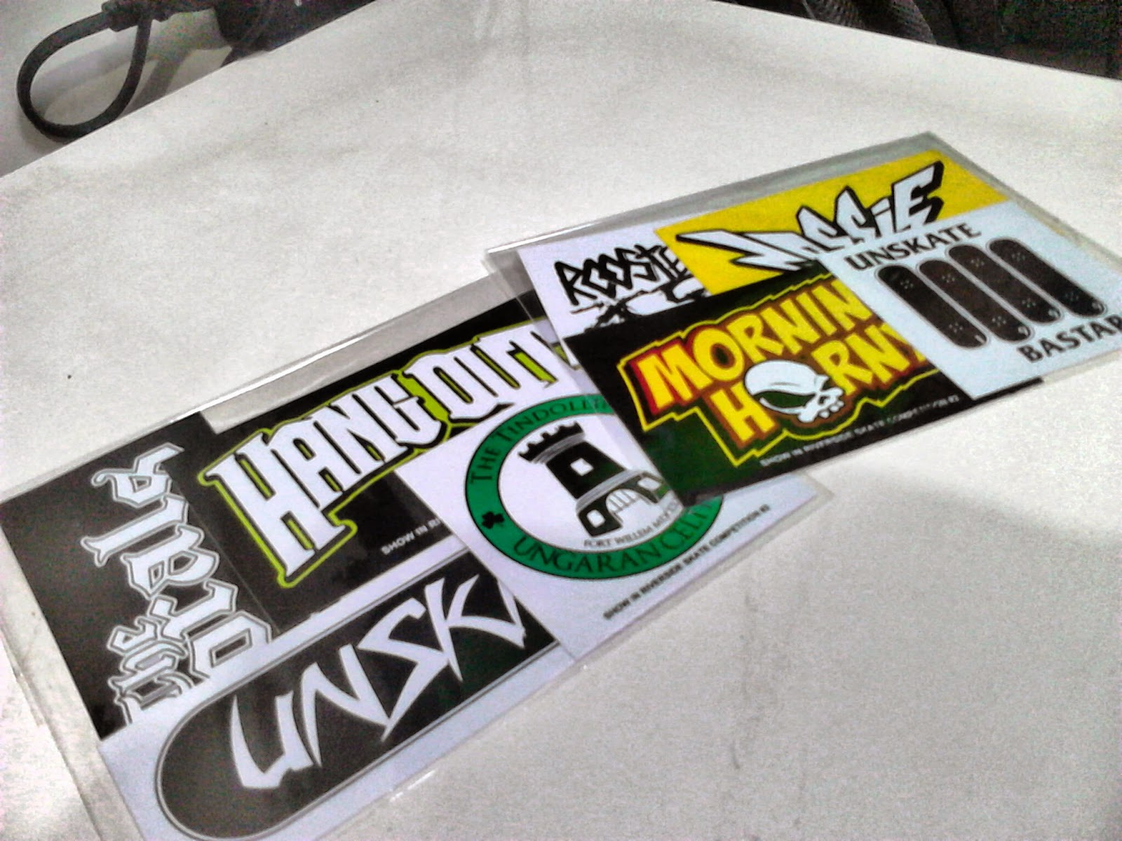 Yes we sale two packs of stickers including all bands that perform on riverside skate competition 2 go grab it fast its limited 7k pack
