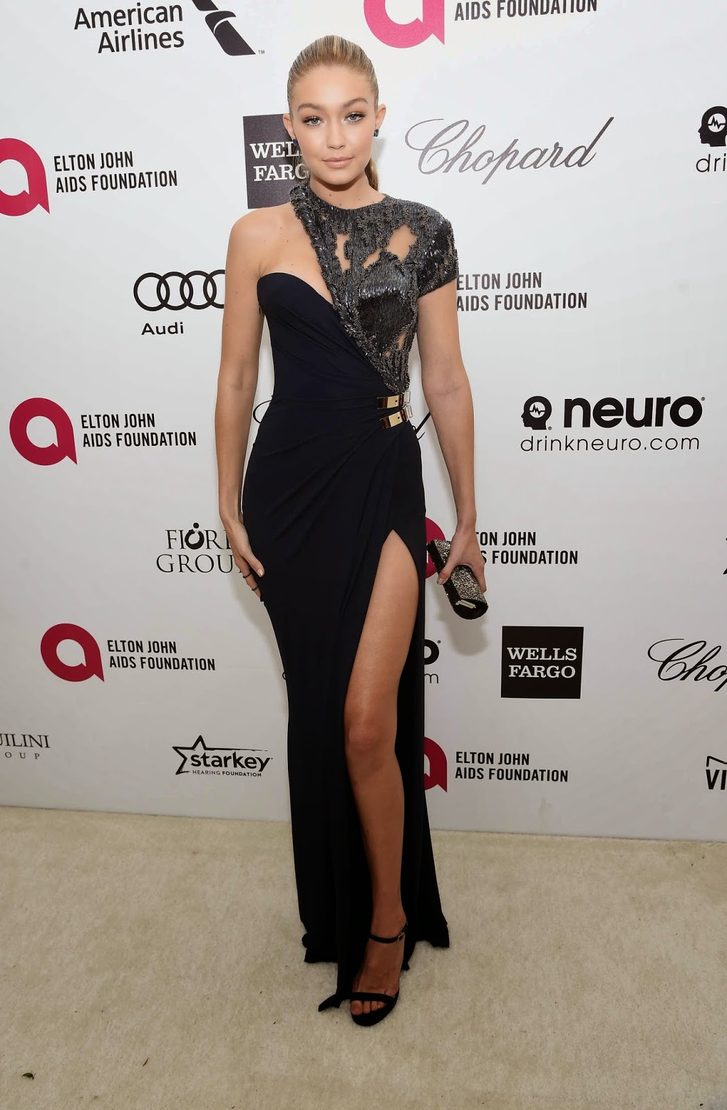 Gigi Hadid – 23rd Annual Elton John AIDS Foundation Academy Awards Viewing Party in LA