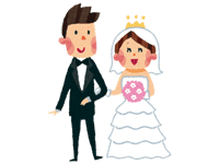 ウェディングドレス・タキシード | ジューンブライド結婚式のイラスト・画像素材
