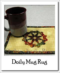 Doily Mug Rug at Freemotion by the River