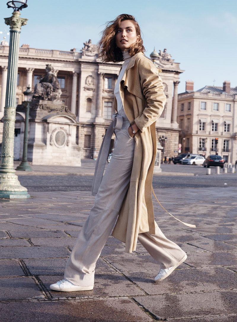Andrea Diaconu in Paris Fashion Week Spring/Summer 2015 | Vogue Spain February 2015 (photography: Benny Horne, styling: Sara Fernandez)