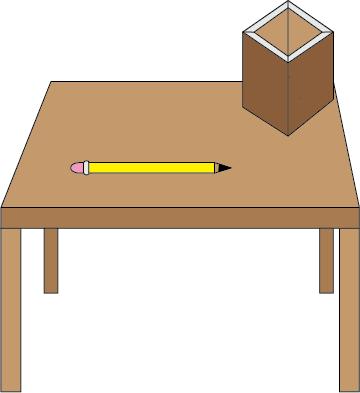 Antonio 39 s graphic design table and pencil holder for Table design graphic