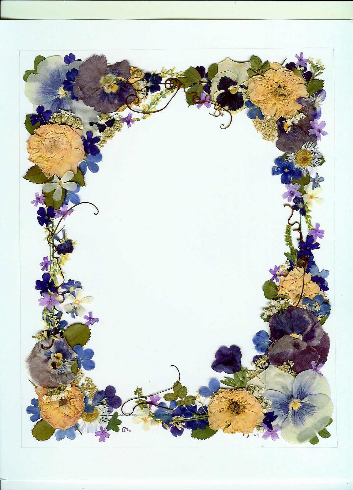 Charlene s Pressed Flower Original Pressed Flower Art