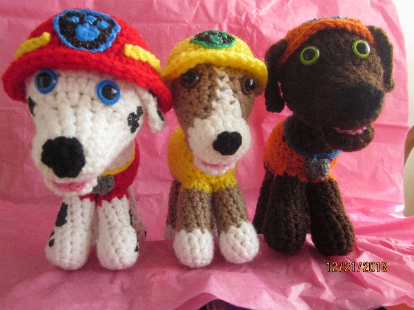 Sewing Paw Patrol Puppies Together Impressive Paw Patrol Crochet Patterns