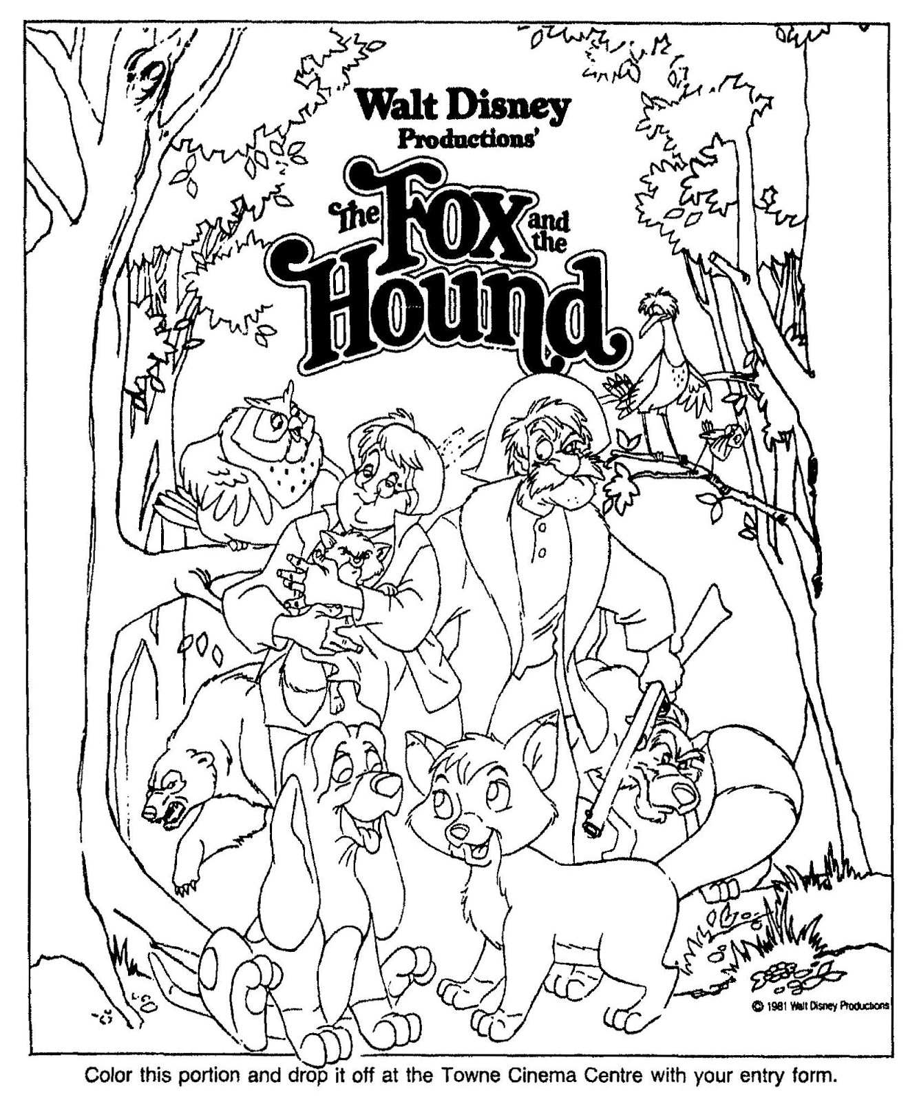Free Coloring Pages Of Fox And The Hound The Fox And The Hound Coloring Pages