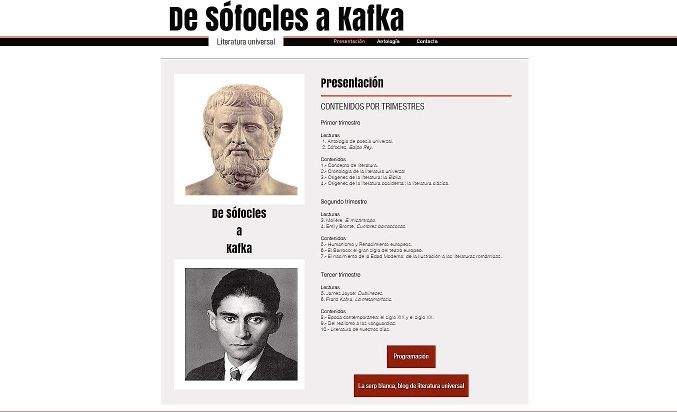 De Sófocles a Kafka