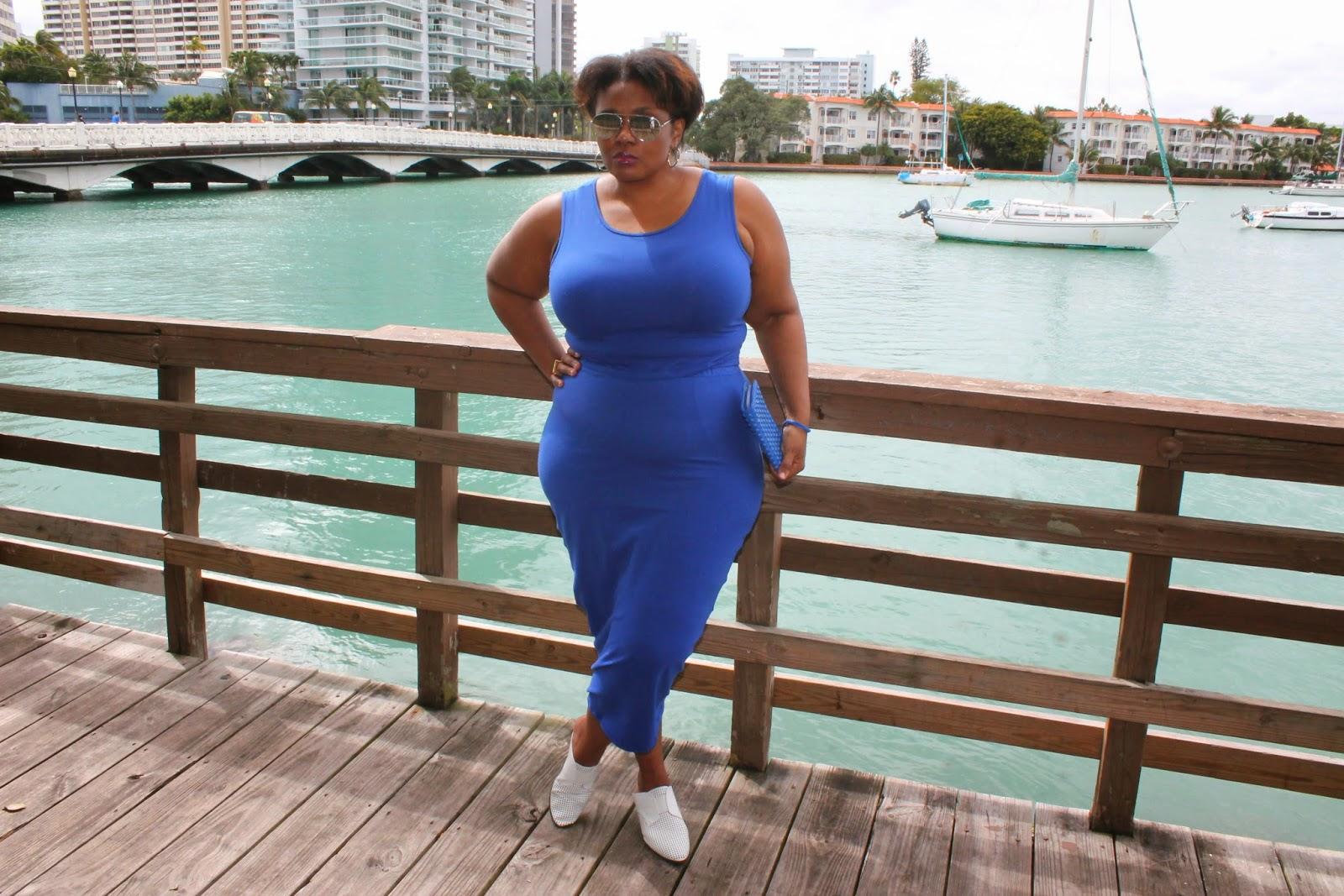 Miami style plus size dresses
