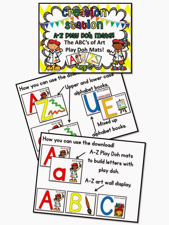 http://www.teacherspayteachers.com/Product/I-Can-Be-An-ArtistABC-Play-Doh-Mats-732103