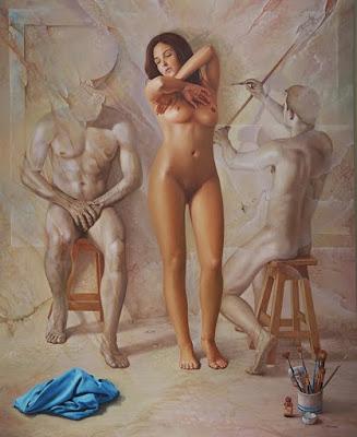 Surrealismo Pinturas de Mujeres Desnudas