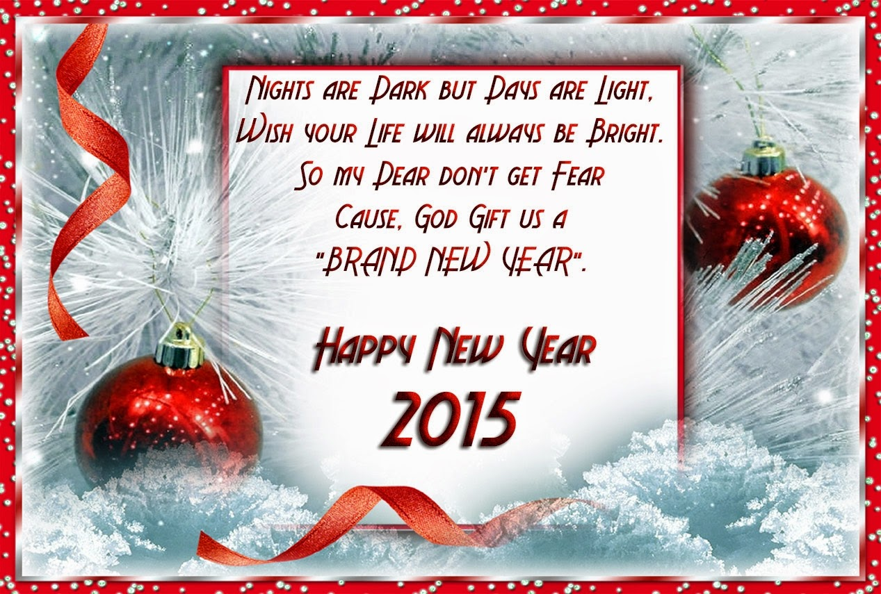 Stylish Happy New Year 2015 Greetings Wishes Lovely Cards
