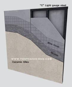 Hệ thống khung vách ngăn & tấm xi măng cemboard