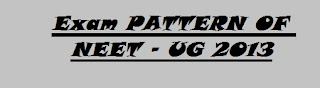 Exam PATTERN OF NEET - UG 2013