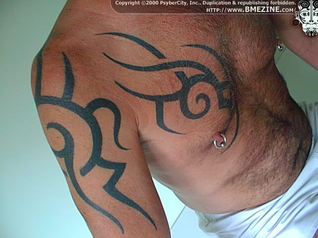 Awesome tribal chest and sleeve tattoo fresh tattoo ideas